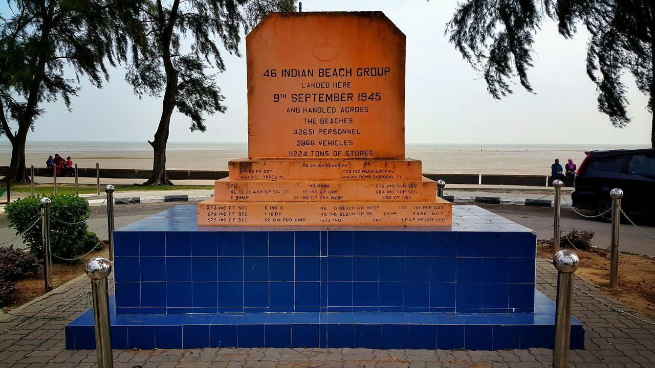World War Ii Memorial At Beach Against Sky