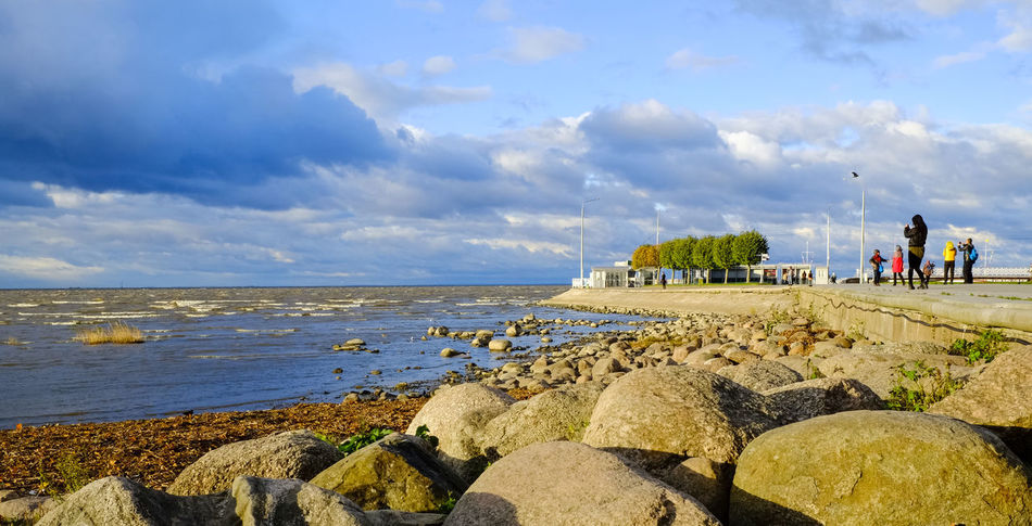 Adult Adults Only Beach Beauty In Nature Cloud - Sky Cloudy Coastline Day Gulf Of Finland Horizon Over Water Landscape Large Group Of People Nature Outdoors People Russia Saint Petersburg Sand Sea Sky Travel Travel Destinations Water 3XSPUnity