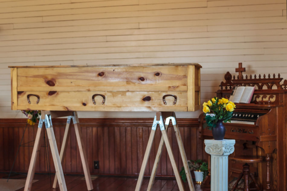 Architecture Built Structure Church Church Organ Close-up Day Death Everyday Emotion Focus On Foreground Funeral Ceremony Funeral Chapel No People Ornate Outdoors Wood - Material Wooden Wooden Casket Wooden Casket In Church