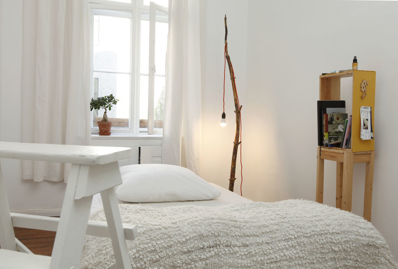 Beautiful stock photos of home, Bed, Bedroom, Berlin, Curtain