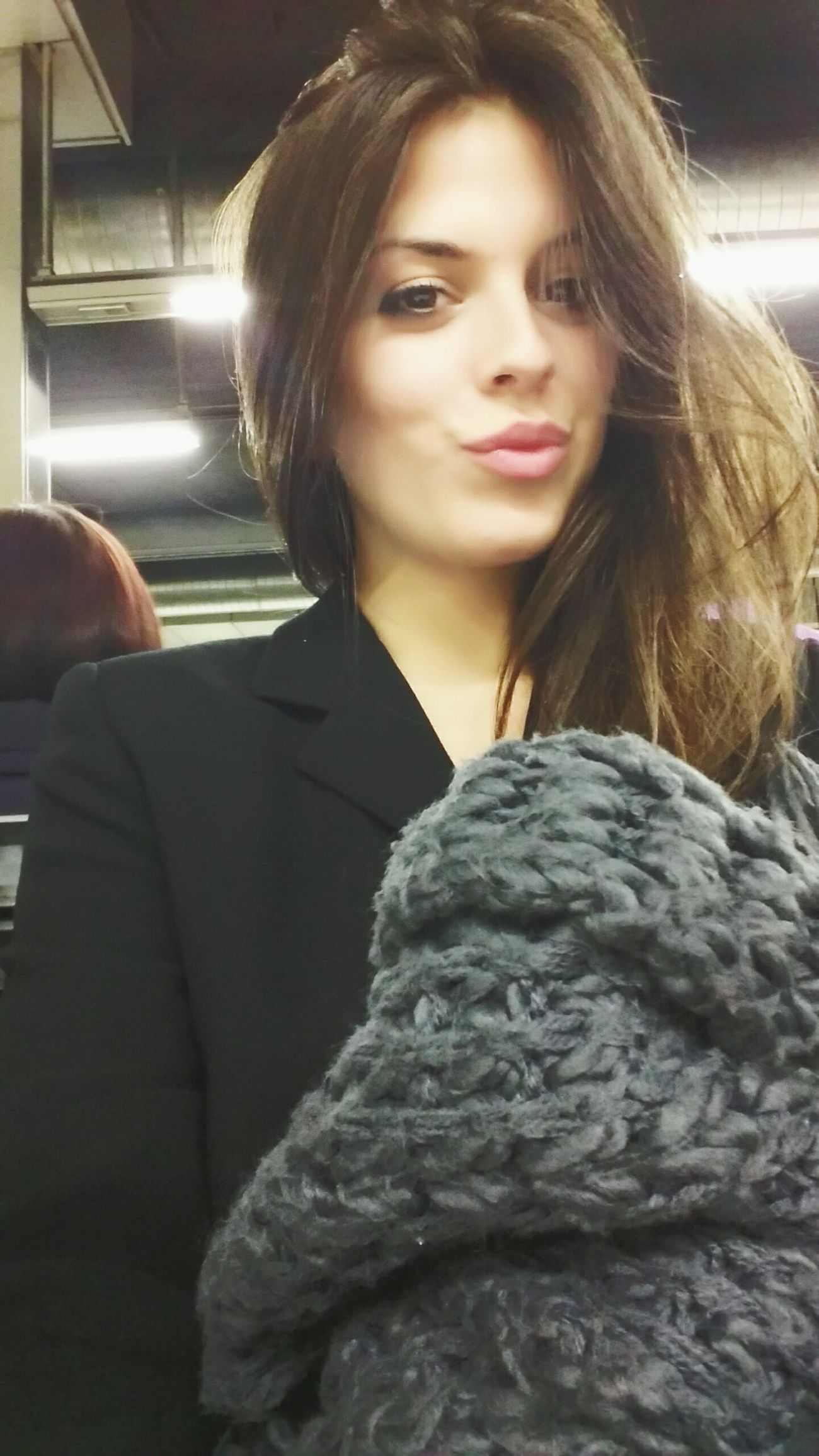 Smile ✌ Kiss Selfie ✌ Train Station Barcelona That's Me Timetostudy Friday Night