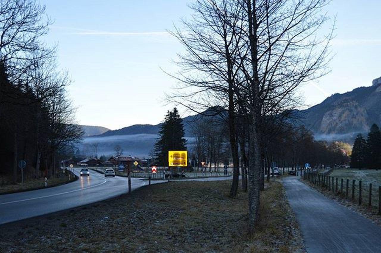 Дорога к Schwangau , покрытая туманом Füssen Newschwanstein NeuschwansteinCastle Hohenschwangau schwangau Bavaria Bayern Latergram Ferien Holidays Winterindeutschland Winter Morning Deutschland Germany Travel Travel_2_germany Europe