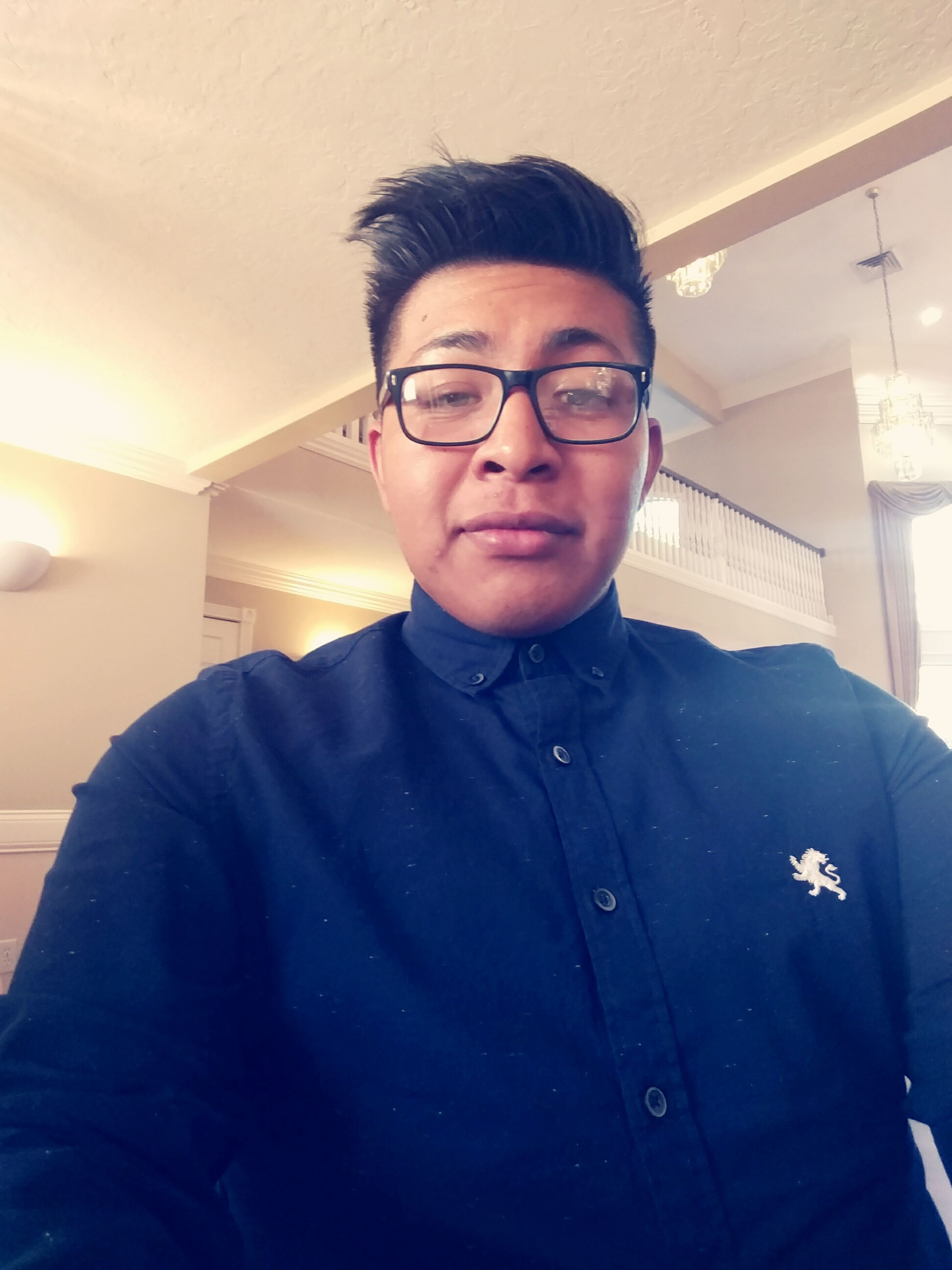 portrait, person, lifestyles, front view, casual clothing, leisure activity, handsome, headshot, eyeglasses, confidence, jacket, toothy smile
