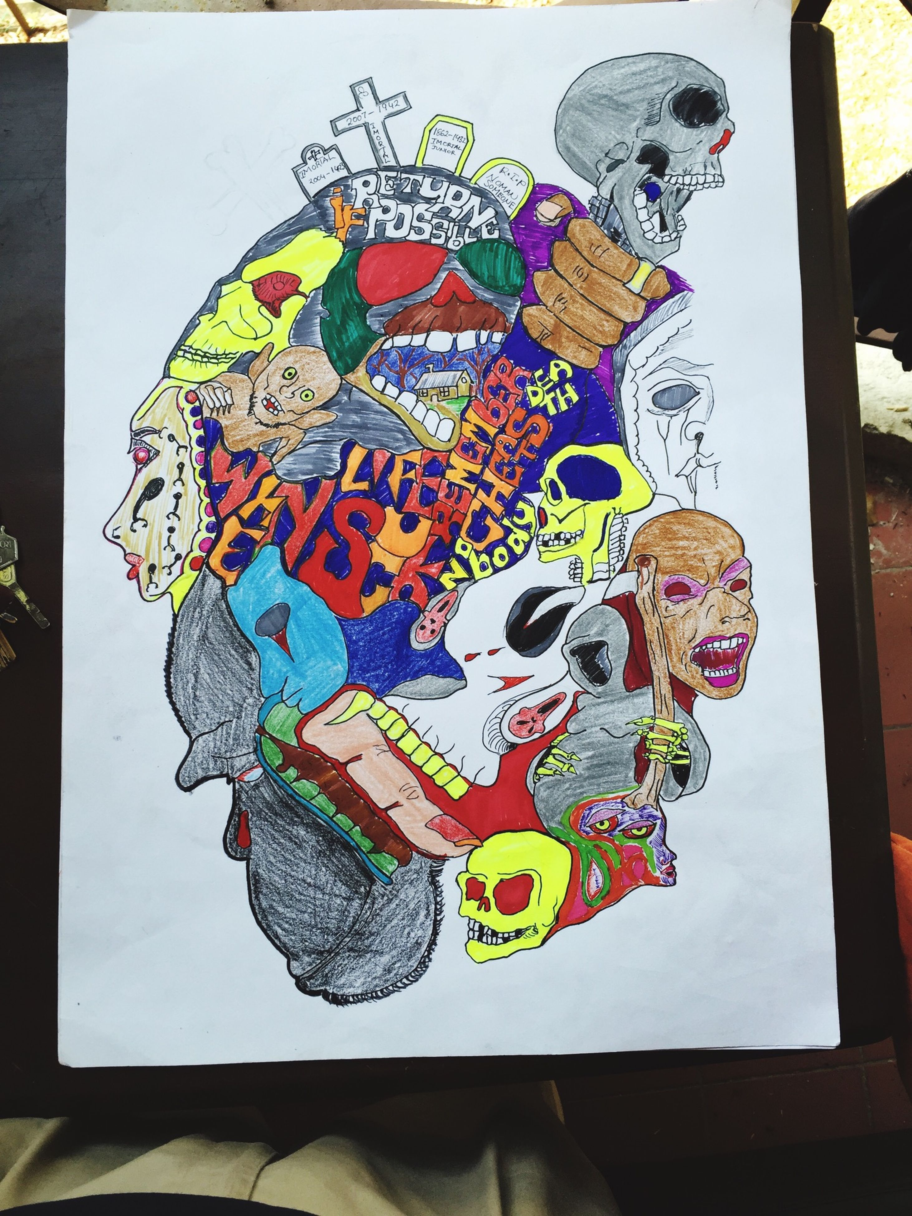 art and craft, art, creativity, multi colored, indoors, graffiti, human representation, wall - building feature, design, animal representation, craft, pattern, painting, decoration, floral pattern, built structure, colorful, low angle view, mural