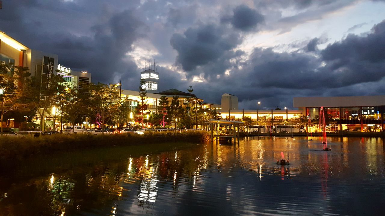 Adapted To The City Reflection Water Architecture Illuminated Night Cloud - Sky Outdoors Sky People Lake Nature Tree