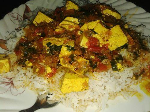Cottage Cheese Food With Rice Dinneeeeeeer 😋