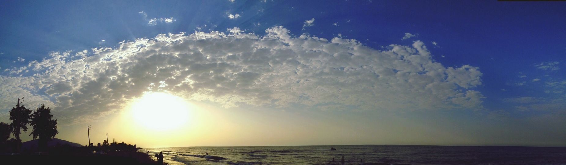 Clouds And Sky Life Is A Beach Natural panaroma , Caspian Sea In iran at north