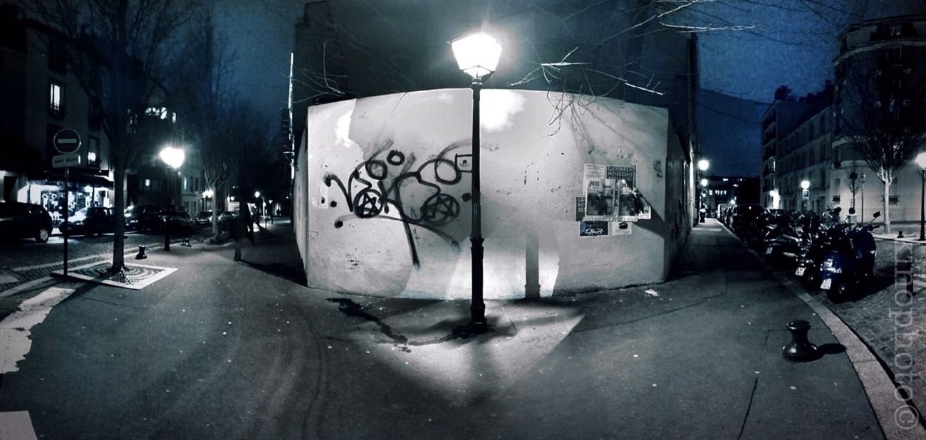 Streetphotography Nightphotography Fisheye La Butte Aux Cailles