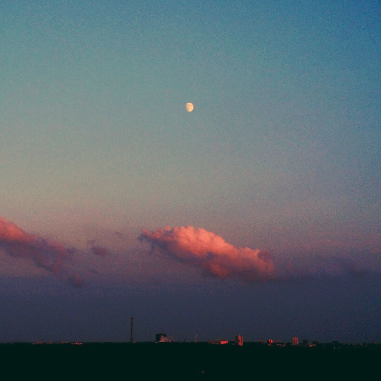 First try out with my new Moment 60mm lens for my iPhone. Rising moon. Clouds And Sky Moon Rising Evening Sky Sunset