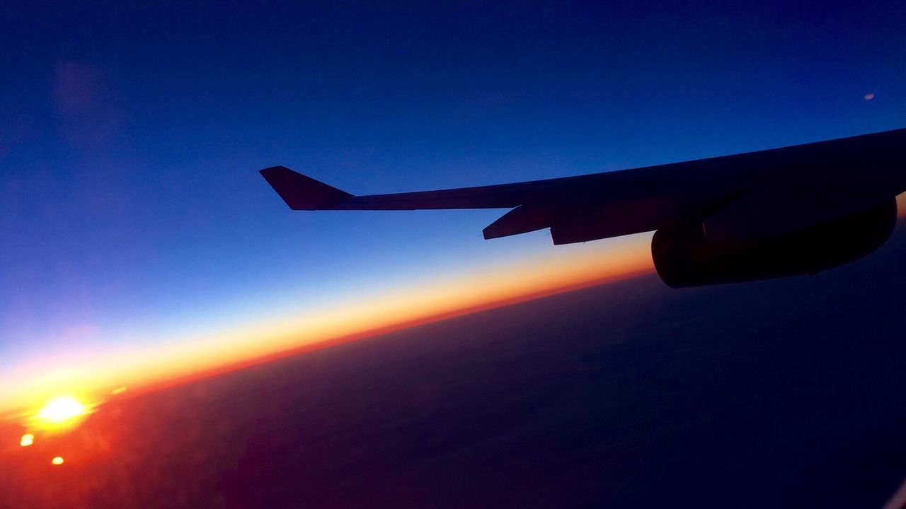 Airplane Transportation Travel Lovelondon Sunset Flying Aircraft Wing Flying In The Sky Airplane Wing Abroad Holiday Goodbye Eyem Nature Lovers  EyeEm