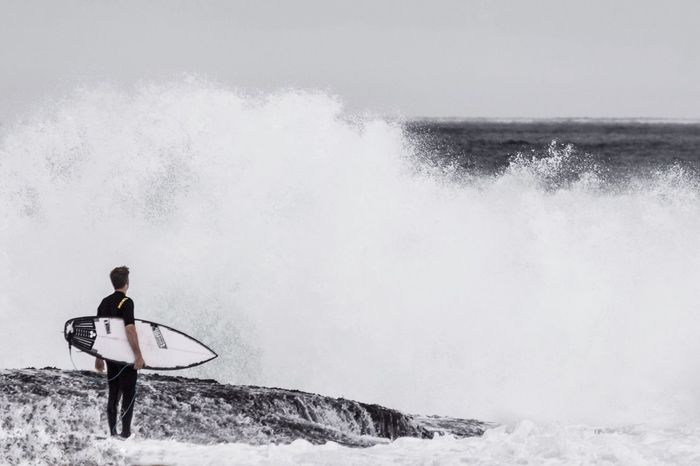 If you want to ride the ultimate wave, you need to be willing to pay the ultimate price. Wave Surfer RogueWave High Tide Water Storm Strength Determination Brave Courage Passion Courageous RePicture Masculinity Bondi Bondi Beach Bondibeach Sydney Bondi Beach  Splash