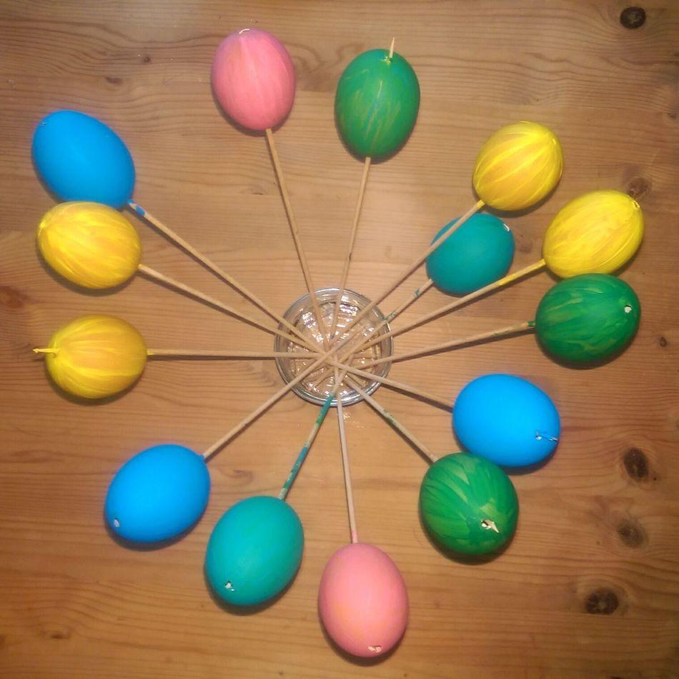 Multi Colored Wood - Material Indoors  Easter Ostern Eier Ostereier DIY Acrylic Eyemphotography