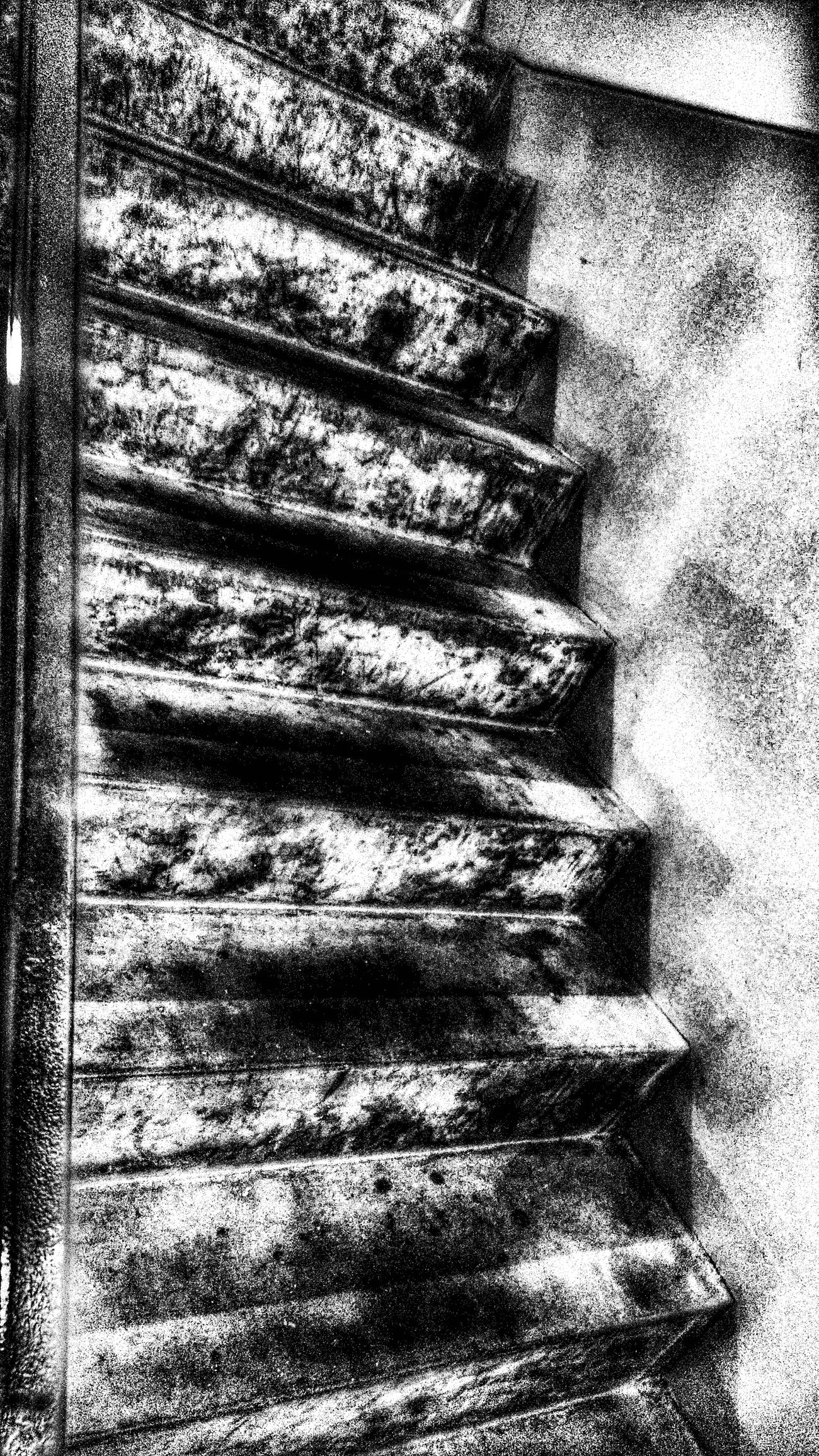 It was one beautiful step up towards your ivory tower or was it one ugly fall from a delusional pedestal? The Impurist Black And White Stairways Walk This Way Twisted Dream Darkness And Light My Bw Obsession Perspective Notes From The Underground? Notes From The Roof?