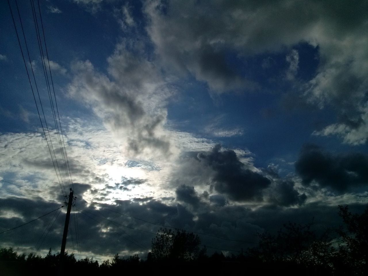 Beauty In Nature Cloud - Sky Day Electricity  Electricity Pylon Horizontal Low Angle View Nature No People Outdoors Power Supply Scenics Silhouette Sky
