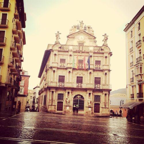 Plaza Consistorial, Ayuntamiento de Pamplona (Navarra). SanFermines
