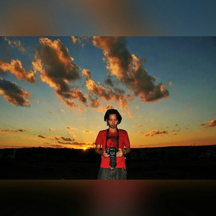 Selfportrait Portrait Nature Sunset Horizon ArtWork Photographer Sunshine Sunrise Against The Light