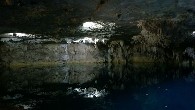 Atmosphere Beauty In Nature Cave Cold Maya Mexico Nature No People Reflection Rock Formation Silence Stalactite  Water Xenote