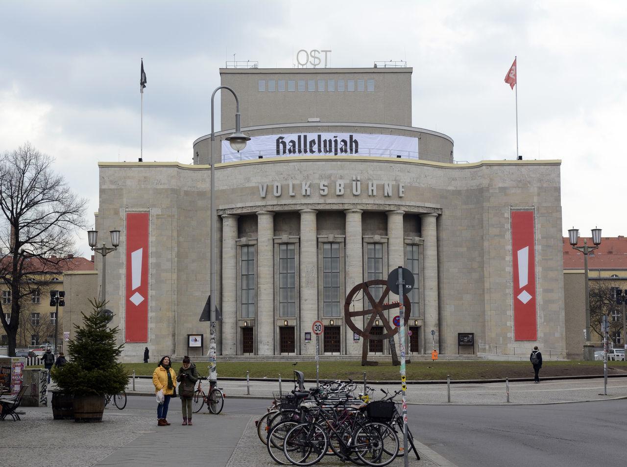 Volksbühne Berlin Architecture Berlin Berliner Ansichten Building Built Structure City City Life Hallelujah Outdoors Rosa-Luxemburg-Platz Street The Urban Volksbühne