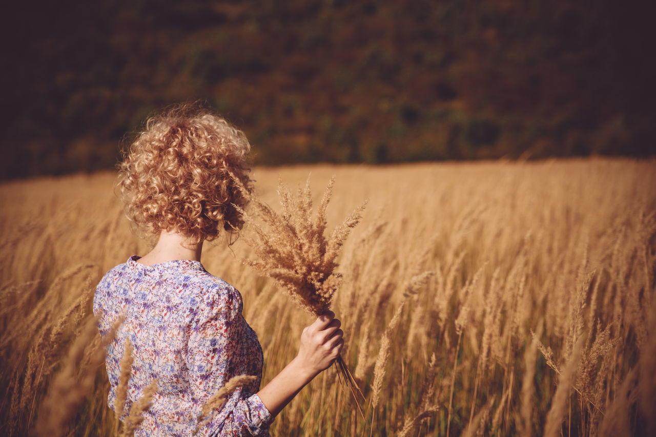 Alone Autumn Blonde Girl Carefree Curly Hair People And Places Dry Grass Colour Of Life Escapism Field Getting Away From It All Grass Grassy Growth Hay Landscape Meadow One Person Outdoors Rural Scene The Great Outdoors With Adobe The Magic Mission Exploring Style Break The Mold Place Of Heart