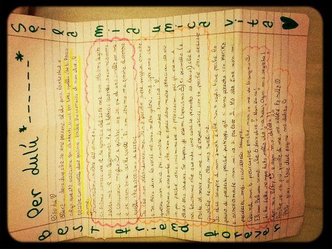 La lettera più bella della mia vita!❤ grazie amore mio❤️ Ti amo Migliore Amica❤️ M+L=❤️