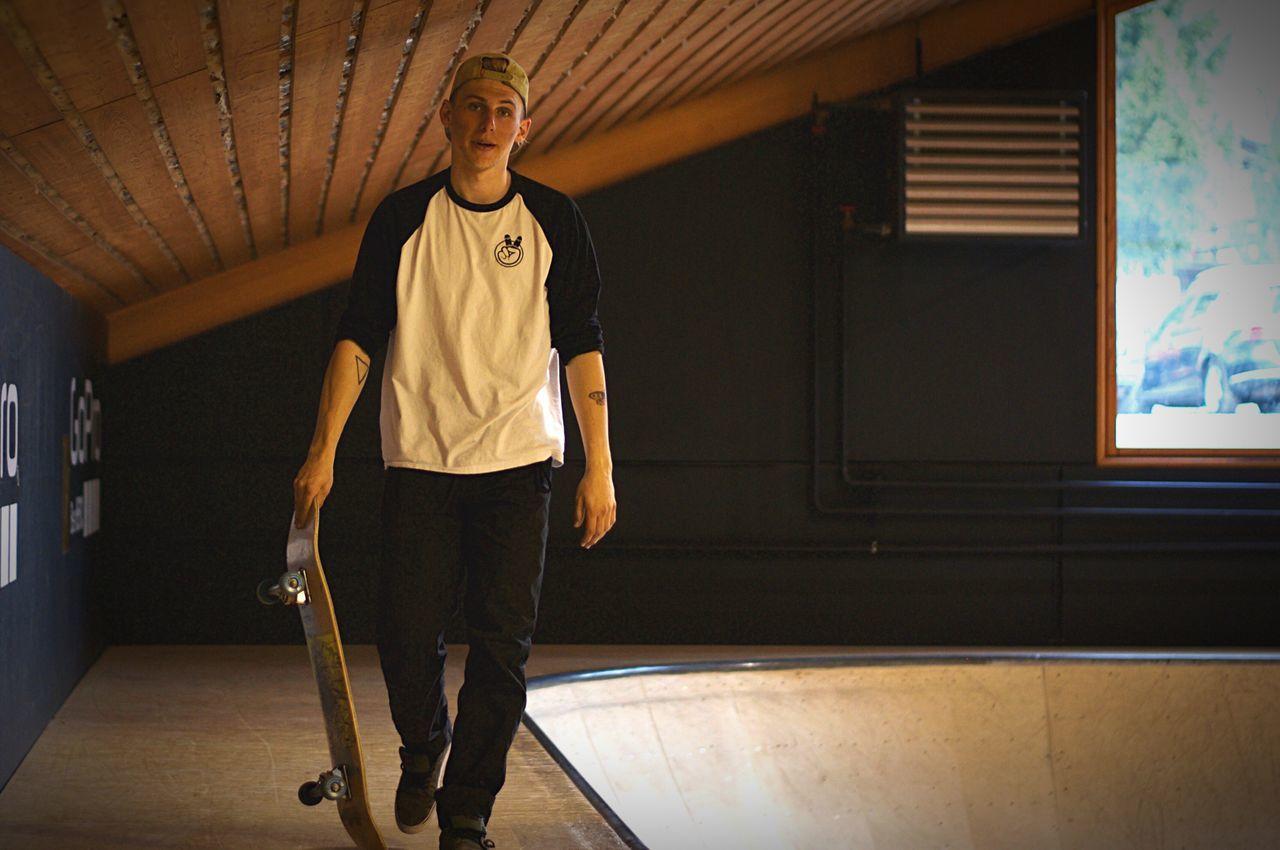 Skateboarding in Laax