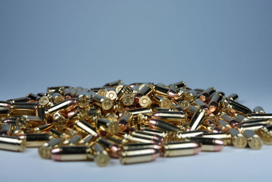 Guns & Ammo 40 Cal 45 9mm Ammo Ammunition Assualt Bullet Bullets Caliber Clip Close-up Deadly Gun Gun Ban Gun Control Gun Laws Lined Up Magazine Many Nra Pile Portrait Protection Self Defense Weapon