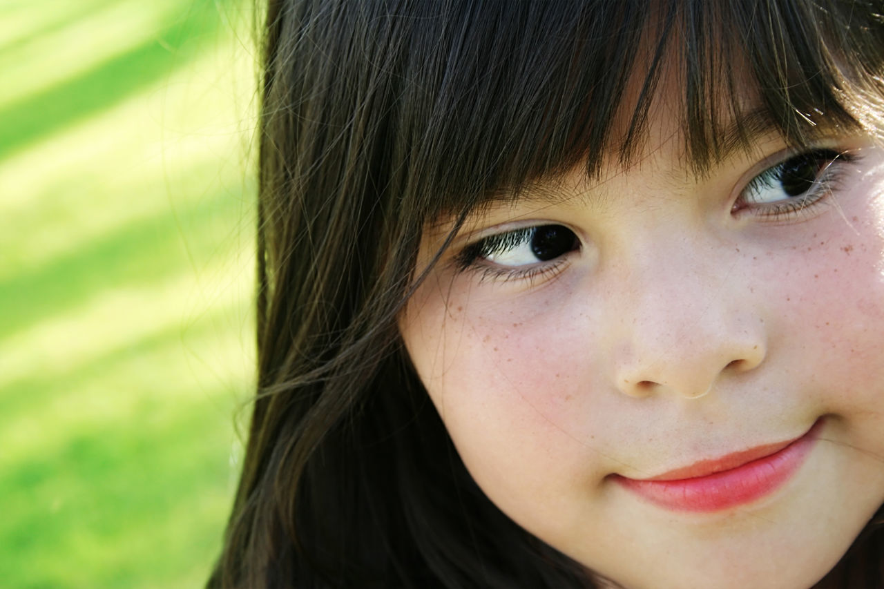 Cute girl Biracial Brunette Child Childhood Close-up Day Female Girl Human Face Mixed Race Mixed Race Person Nature One Girl Only One Person Outdoors Park People Portrait