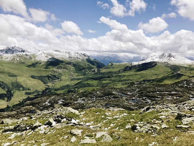 Alps Le Grand Mont Rhône Alpes Mountain Landscape Beauty In Nature Nature Outdoors Scenics Sky No People Day Summer