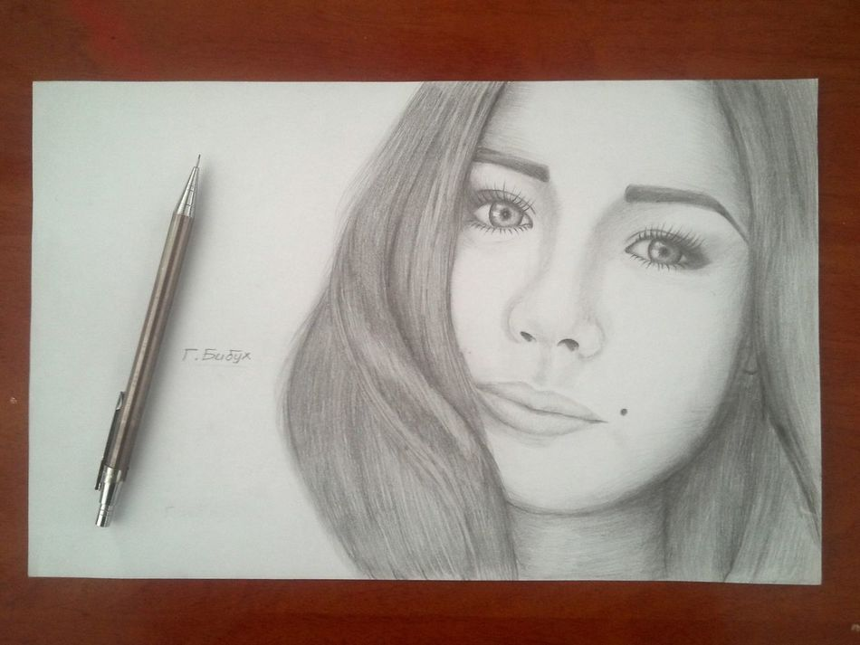 Russian Girl Beautiful Pencil Drawing Insta Bibuhoo9