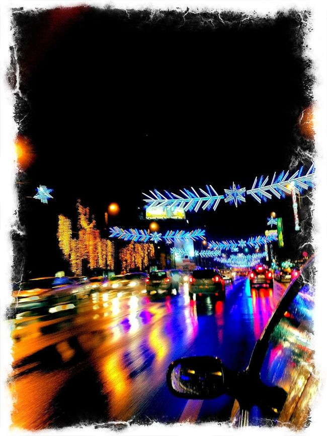 winter time, lights, cold, reflection