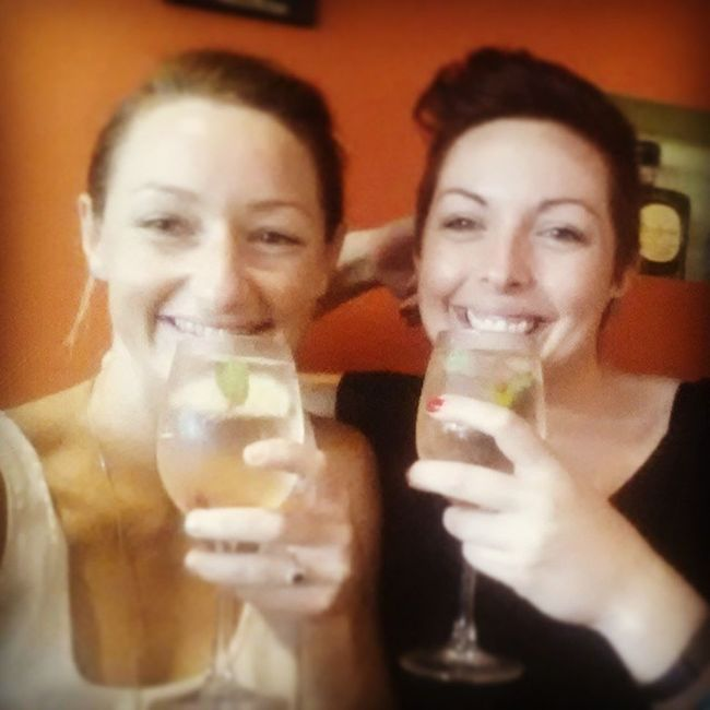 Sangria debrief about the breakfast, shopping, massage, Mani pedi and nachos day Girlsrule Bestdayever Oopsboughtmoreclothes
