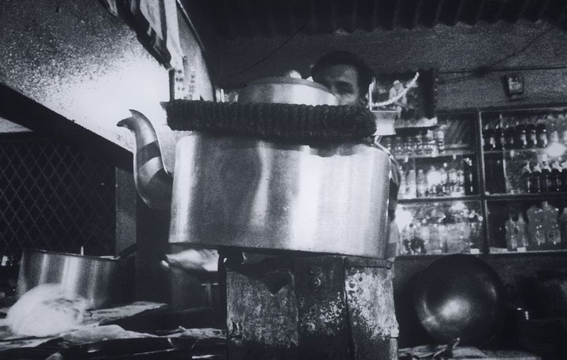 Bnw Cutting_chai IPhone IPhoneography Just Around The Corner