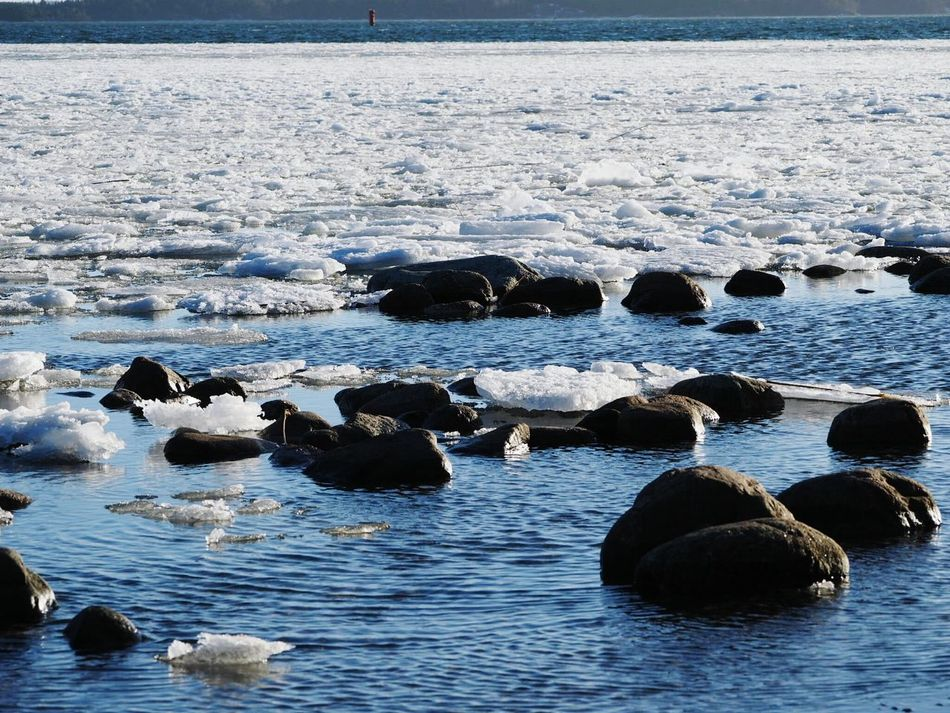 Water Nature Sea No People Beach Beauty In Nature Sunny Winter Day Cold Temperature Ice And Water Winter Nature Outside Tranquil Scene Beautiful Nature Tranquility Beauty In Nature Beautiful View Nature Winter White Color