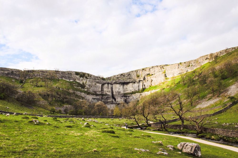 Malham Malham Cove Yorkshire Yorkshire Dales Countryside Nature Dales Country Beautiful Landscape Sunset Fields Dry Stone Walls Limestone Rocks Rocks And Water Stream River Trees Climbing Walking Hiking Favourite Places