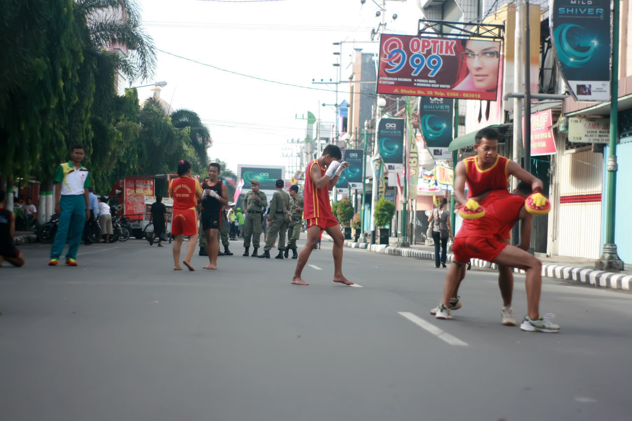 weekend activity in dhoho street, kediri eastjava Indonesia Adult Adults Only Asian  Authentic City Day Men Outdoors People Sky Sport Street Women
