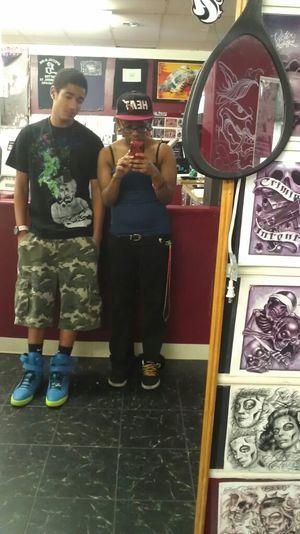 at tattoo shop
