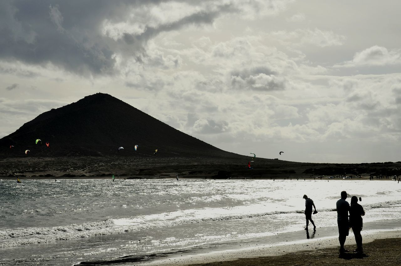 Water Silhouette Outdoors Beach People Adult Day Adults Only Natures Strength Kitesurfing Backlight EyeEm Masterclass Beautiful Nature Shootermag Eye4photography  From My Point Of View Tenerife Cloud - Sky Sky Power In Nature Long Goodbye Live For The Story