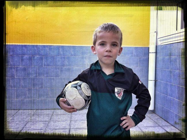 Mi camiseta de Zubizarreta se convierte en la de Iraizoz para Unax Football Children's Portraits Athletic Unax