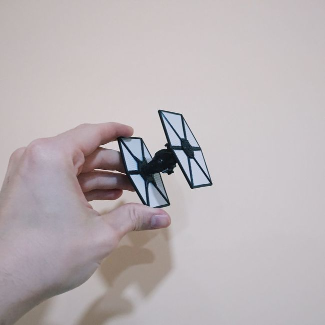 Be more rebel | IPhoneography Starwars Tiefighter Hand Toys Taking Photos Enjoying Life Relaxing Playing
