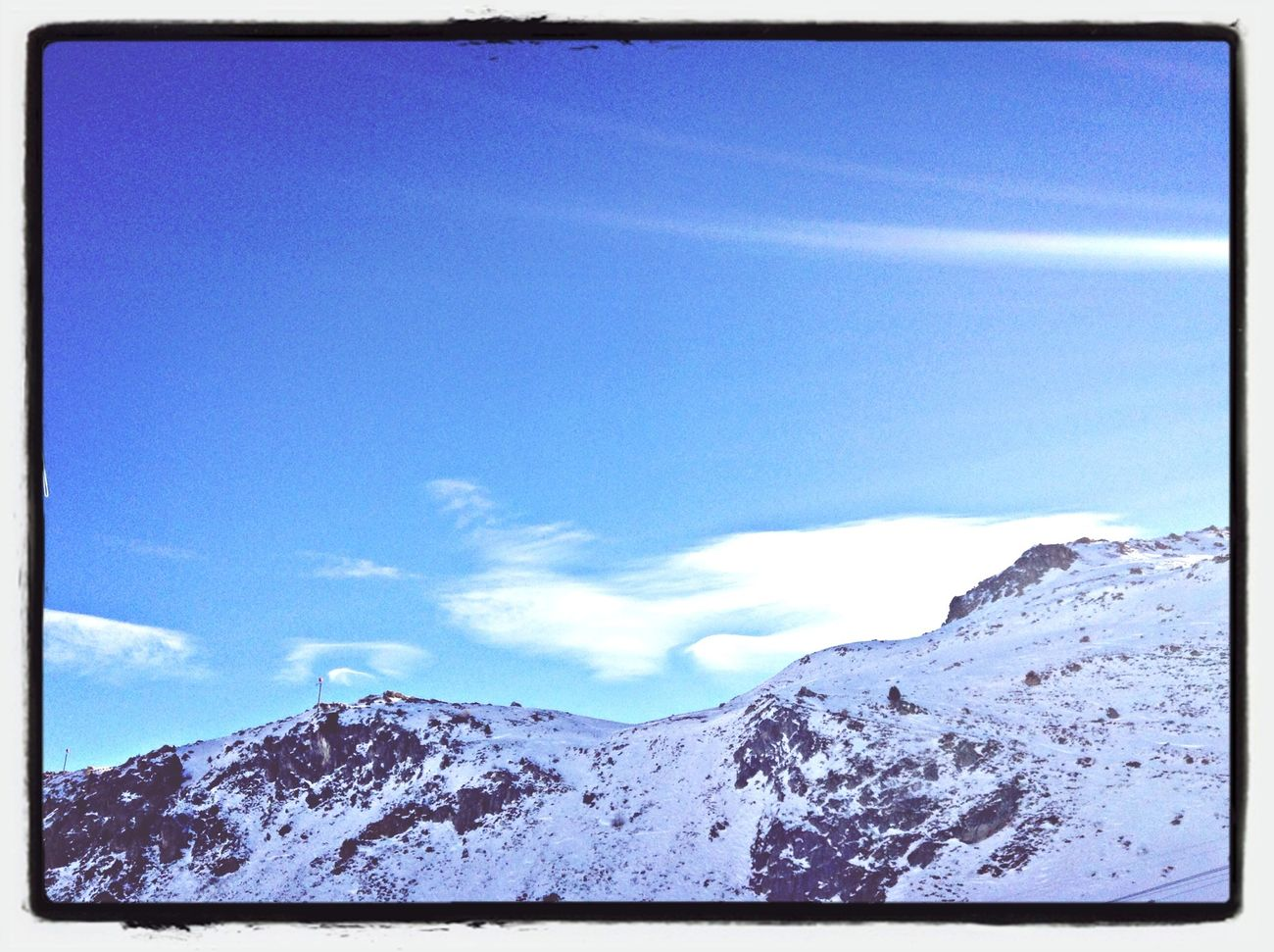 Wohin niemand in den Berge n sieht. Skyporn Bluesky Mountains