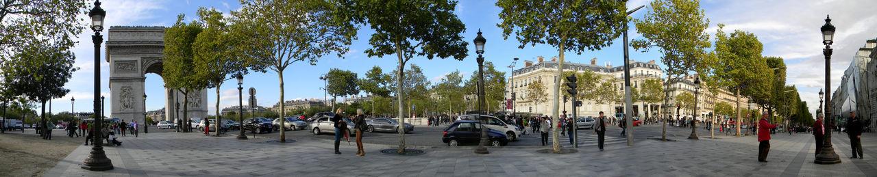 Paris Arc De Triomphe Architecture City France Free Lifestyles Panorama Parig Panoramic Paris Promenade Rue Travel Destinations Vacations