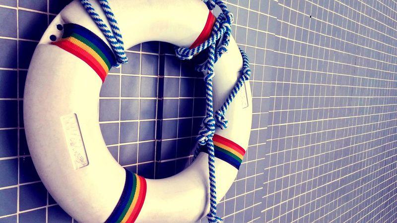 Safety First! Buoyancy Ring Life Saving Ring Lifesaving Donut Buoy Lifering Poolside Paraphernalia CPR  Ar Lifeguard  Lifeguard On Duty Beach Life Gay Lesbian Pride Beach Bum☀