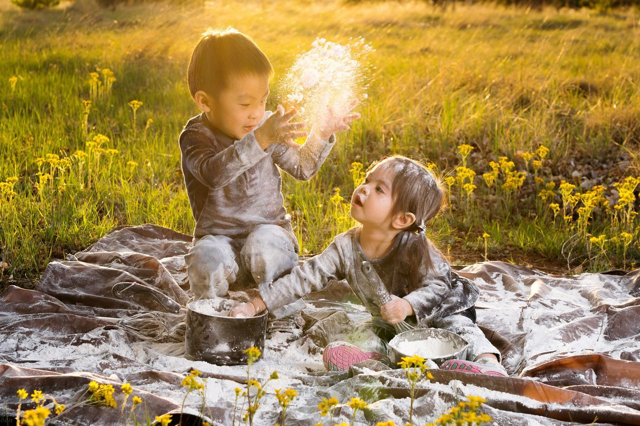 Live For The Story Grass Meadow Baby Happiness Two People Outdoors Sunlight Joy People Flower Togetherness Toddler  Fun Childhood Nature Sunset Day Smiling Females Summer Flour Messy Sunset Goldenlight