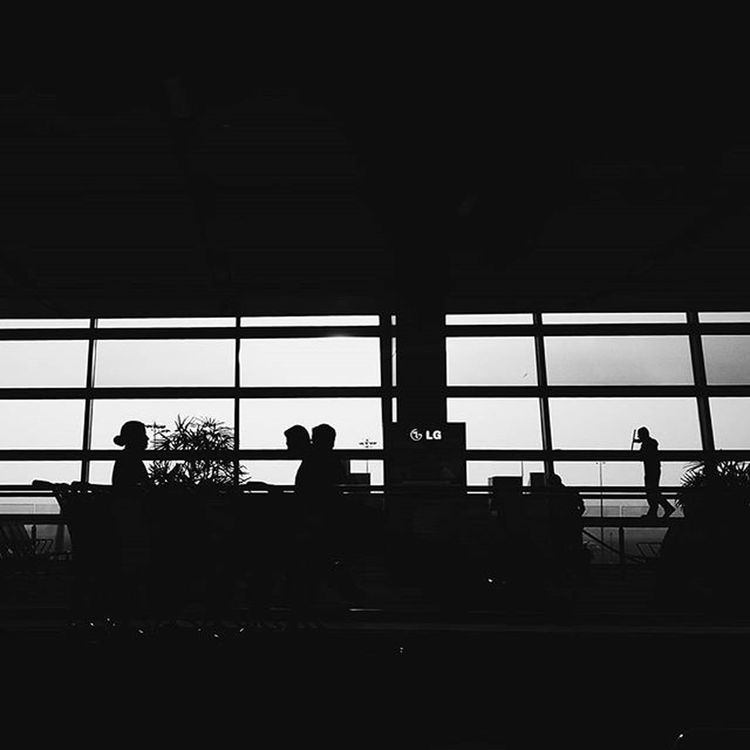 ~ Silhouette ~ Blackandwhite B /w Monochrome Vscocam Vscophile Vscogrid Vscocamphotos Vscogood Vscovisuals Ig_captures Ig_ghy Igers Igdelhi Delhi Airport Scenes T3 DelhiGram Delhi_igers Delhidiaries International Airport Likeforlike Likeforfollow Followforfollows india travelgram travel traveldiaries hellodelhi