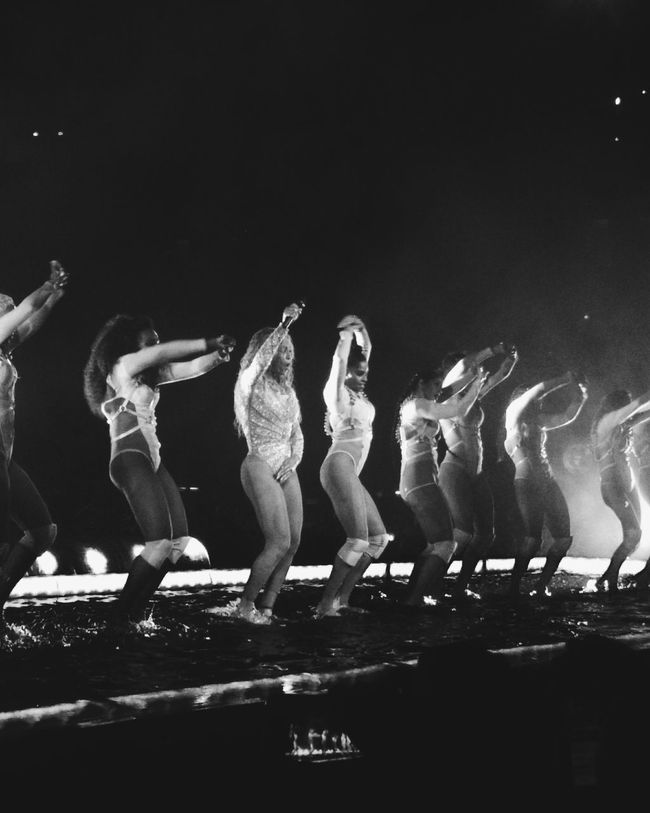 Black And White Dancing Music Performance Dancers Concert Vscocam VSCO Formation World Tour Milano Italy Beyonce Beyhive  Stage Vertical Horizontal Concert Photography Ligts Arts Culture And Entertainment