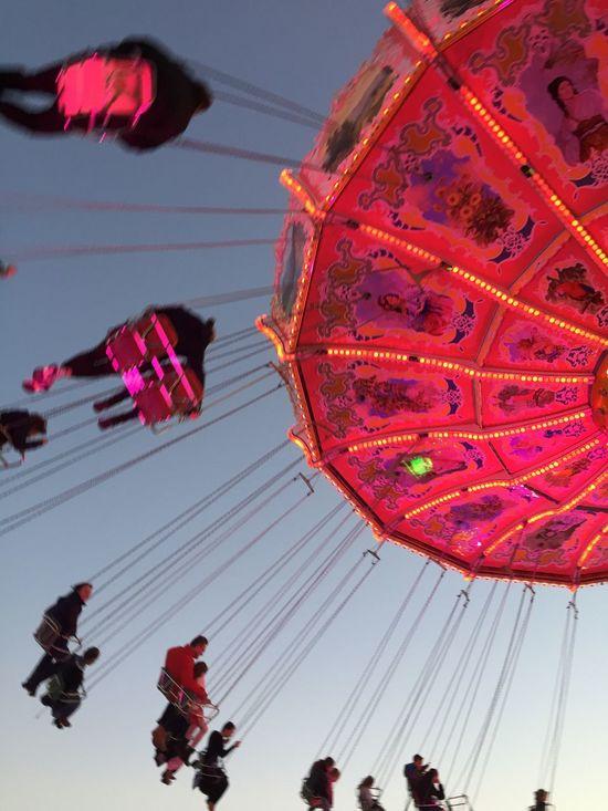 Oktoberfest MUC Fair Fairground Fairground Ride Chairoplane Munich