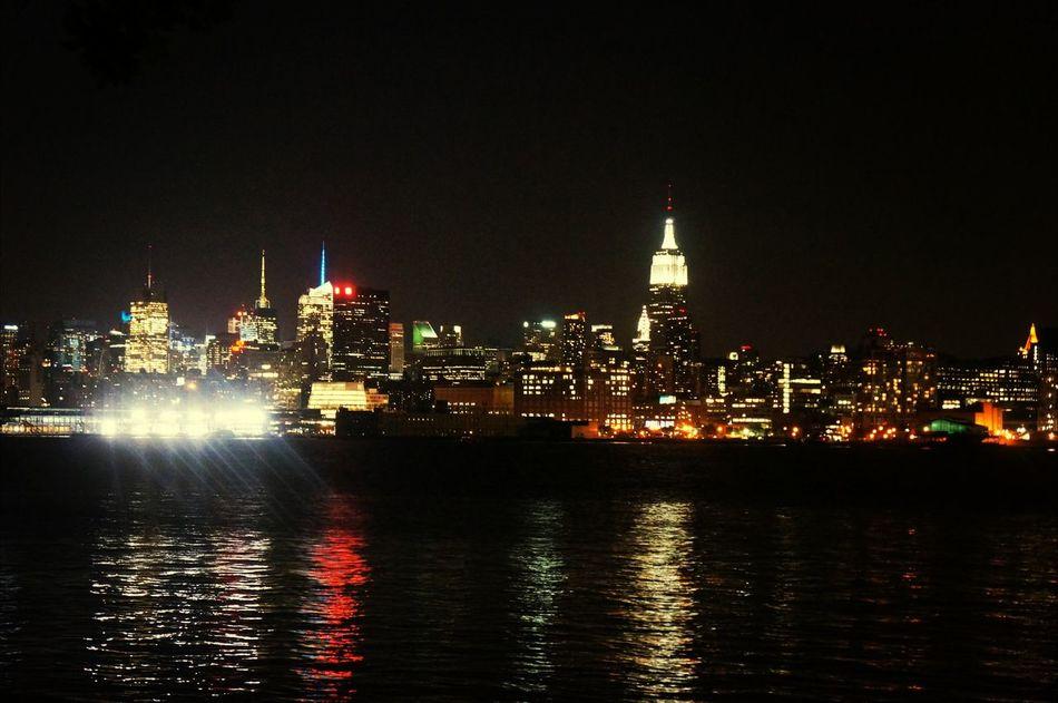 Hoboken New York City Parks Night Lights