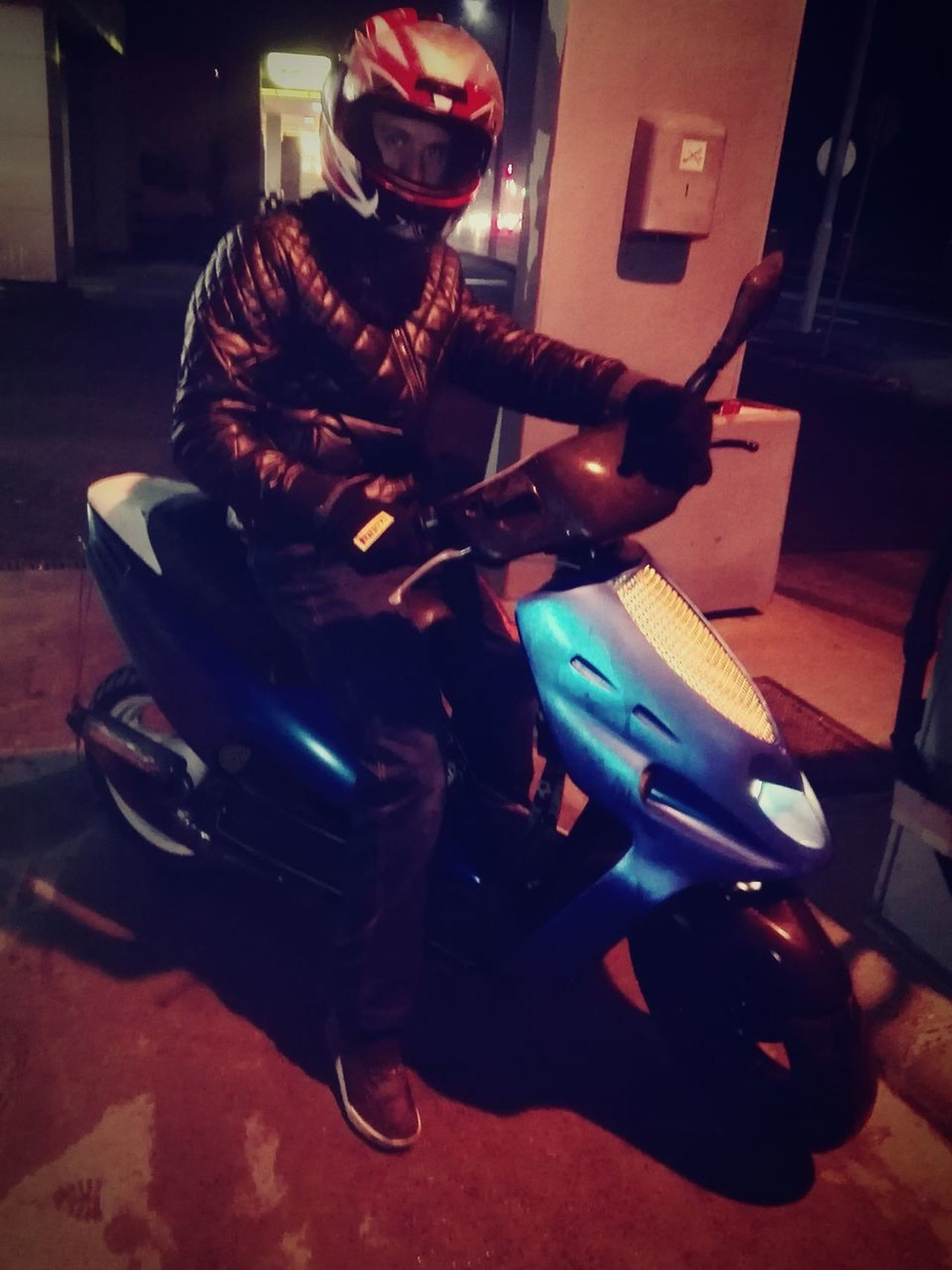 Full Length Archival Only Men One Man Only Night One Person Adults Only Indoors  People Sports Race Adult Headwear 70cc Subaru EyeEm Best Shots Zala Helmet Metal Ride Motorbike Love Motorsport Nature Zalaegerszeg Malaguti