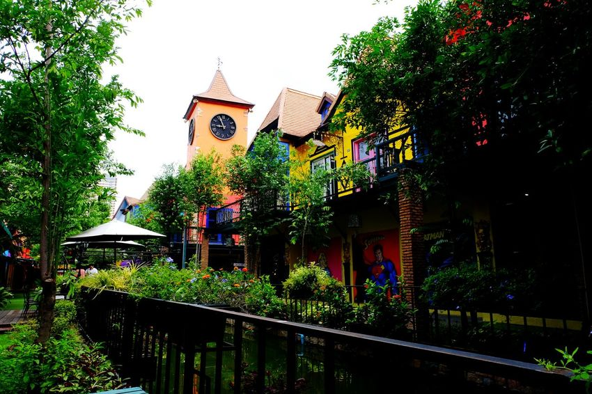 Tree Travel Destinations Architecture Outdoors Clock City Outdoor Photography Pattaya, Thailand