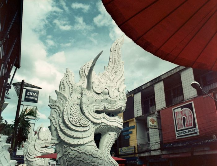 Film Photography Filmisnotdead Filmphotography Mediumformat Photography Medium Format FTW Mediumformatfilm Statue Sky And Clouds Clouds Travel Photography Adventure Cityscapes City Scene Thailand_allshots Thailand.. Thailand